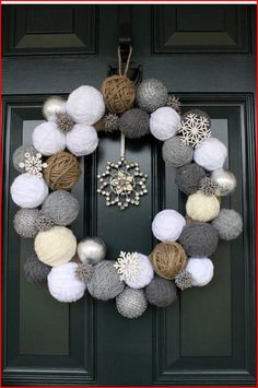 Cool wreath idea.