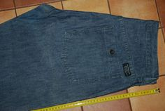 LEVI S ALL DUTY 678 MENS BLUE RED LABEL CARGO JEANS Trousers Work W 34 L 32