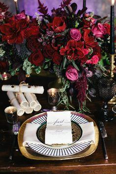 Romeo + Juliet Wedding Inspiration - www.theperfectpalette.com - Renata De Thomasis Events, Laura May Photography, D & D Florals