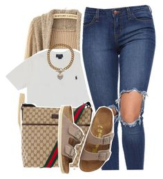 """""""4/26/16"""" by lookatimani ❤ liked on Polyvore featuring Polo Ralph Lauren, Gucci, Birkenstock and Juicy Couture"""