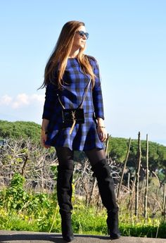 Black and Blue plaid suit | Chicisimo
