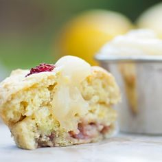 Lemon-filled Strawberry Muffins