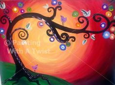 Painting I will make tomorrow at Painting with a Twist. Hopefully I come close to this!