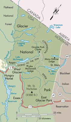 The Great Northern: Glacier National Park map