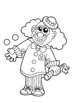 Ausmalbilder Clown 2 Fasching Basteln Pinterest