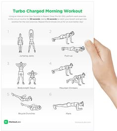 Create and customize printable workout plans with exercise illustrations, FREE.
