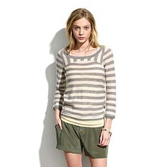 This sweater from Madewell is so beachy and fresh. I'd love to have it for brisk spring nights.
