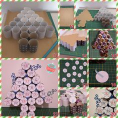 Christmas advent calendar out of toilet paper rolls Crafts For Kids To Make, Diy Arts And Crafts, Craft Stick Crafts, Christmas Crafts, Christmas Decorations, Homemade Advent Calendars, Diy Advent Calendar, Advent Calenders, Theme Noel