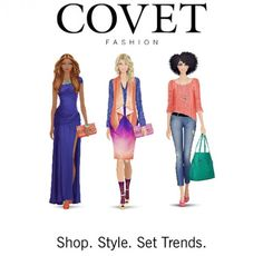 covet fashion app. I'm Addicted! So much fun, it might even cure my real shopping problem!