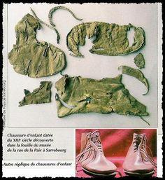 Chaussure retrouvée dans les fouilles à Sarrebourg