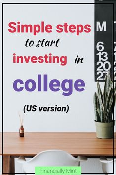 Ever thought about investing in college? It's simple and easy and will make you rich at retirement. Get started now! | Financially Mint | Investing in College | Financial Education