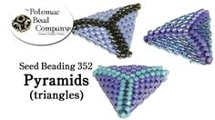 This tutorial from The Potomac Bead Company demonstrates how to use seed beads to make beaded pyramids that can be used as pendants, bracelets, and more. htt...