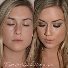 Airbrushed skin and brown smokey eyes! All products listed. Kissable Complexions makeup blog