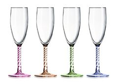 ARC International Luminarc Party Time Champagne Flutes, 5.75-Ounce, Set of 4 >>> Visit the image link more details.