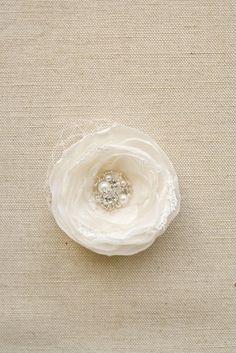 Ivory Wedding Hair Flower Ivory Bridal Flower Clip by BelleBlooms