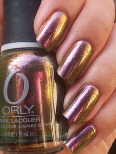 Orly Space Cadet. Reminds me of my Sally Hanson Prisms colors. I love the two-tones!