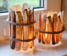 Razor clam shell candle holders. LOVE THESE!!!