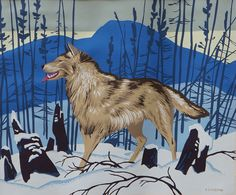 Alfred Joseph Casson, 'Wolf' at Mayberry Fine Art