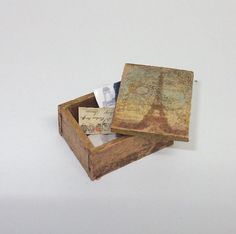 ♡ ♡  vintage style box scale 1/12 by Teruka on Etsy