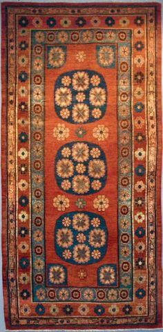 Turkestanian Khotan rug,  early 19th century