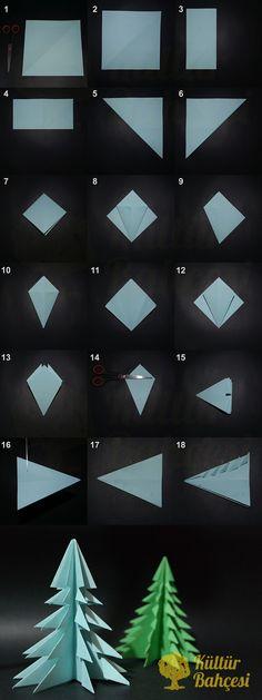 Kağıttan Çam Ağacı Yapımı | Kültür Bahçesi Adım adım kağıttan çam ağacı yapımı yazımızı okuyarak ister kendin, ister çocuğunla birlikte güzel zaman geçirebilir, origami ile çam ağacı yapabilirsin. Hemen okumak için http://kulturbahcesi.com/kendin-yap/kagittan-cam-agaci-yapimi-origami/ #kendinyap #çam #ağacı #agac #kagittan #origami #diy #eğlenceli #çocuk #cocuk #kid #fun