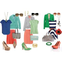 Spring for work, created by kaylyn-corbin on Polyvore