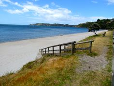 Onetangi Beach on Waiheki Island - 18km from Auckland. The island is the second-largest island in the Hauraki Gulf after Great Barrier Island.