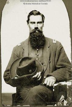 Unidentified Civil War captain, ca. 1861. Item # 5191 on Maine Memory Network