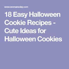 18 Easy Halloween Cookie Recipes - Cute Ideas for Halloween Cookies