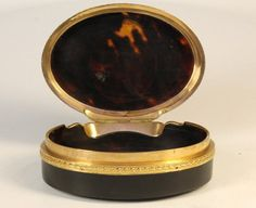 A French Tortoiseshell Miniature Box Late 18th Century