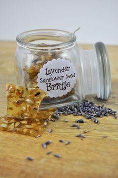 Gourmet Lavender Sunflower Seed Brittle - Handmade from Scratch Candy - 2 oz