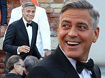 George Clooney and Amal Alamuddin wedding arrivals\n\nPictured: George Clooney\nRef: SPL852554  270914  \nPicture by: Splash News\n\nSplash News and Pictures\nLos Angeles: 310-821-2666\nNew York: 212-619-2666\nLondon: 870-934-2666\nphotodesk@splashnews.com\n