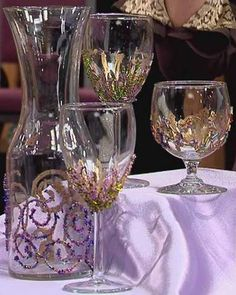 DIY - Beaded Wine Glasses