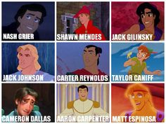 Magcon boys as Disney princes// OMG im in love with Peter Pan and Taylor is Peter Pan omg!!!!
