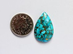 21x12 mm Green Turquoise Pear Gemstone-American Turquoise Cabochon Pair-Beautiful Cabochon-Gemstone For Jewelry-Gemstone Pair For Earring