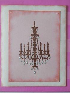 Card con timbro lampadario