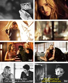 Arrow - 2x14 Time Of Death - Sin & Sara - Hey, Laurel is my big sister, I still have room for a little one.