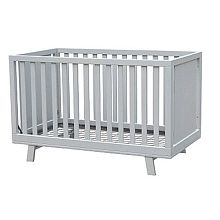 The Grayson cribs clean lines and contemporary look will feel at home in any modern nursery. Expertly crafted from select hardwood and non-toxic lacquer. The Grayson convertible crib grows with baby in style. This modern crib also features multiple adjustable mattress positions to be 'just right' for you and baby. The open-slat sides allow you to keep an eye on your little one from every angle. The Grayson is a 3-in-1 bed. The crib converts to both a toddler bed (rail additional) and daybed.