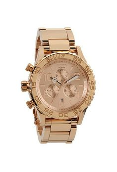 Nixon The Chrono All Rose Gold Horloge Rolex Watches, Watches For Men, Nixon Watches, Rolex Women, Best Watch Brands, Rose Gold Plates, Chronograph, Retail Therapy, Envy
