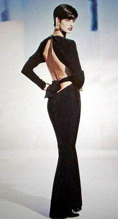 1989 - YSL Rive Gauche adv - Linda Evangelista by Philip Elgort