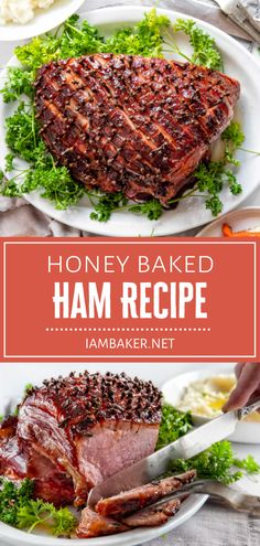 Impress family and friends this Christmas in July with a perfectly prepared Honey Baked Ham on the menu! This easy recipe takes ham to a new level with a wonderful infusion of cloves. With just 5 ingredients, you can have a dinner idea packed with a unique flavor! Ham Recipes, Cooking Recipes, Recipies, Dinner Recipes, Honey Baked Ham Recipe, Honey Glazed Ham, Recipes With Few Ingredients, Baking With Honey, I Am Baker