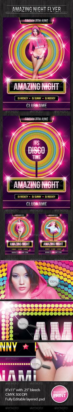 Amazing Night Flyer #GraphicRiver Amazing Night Flyer is a unique and colorful…