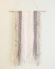 Yarn Wall Hanging, Wall Decor, Nursery Decor, Nursery Wall Art, Bohemian Yarn Wall Hanging, Boho Decor, Statement Art Piece, Yarn Tapestry