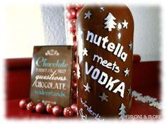DIY winterlicher Schokolikör mit Nutella & Vodka