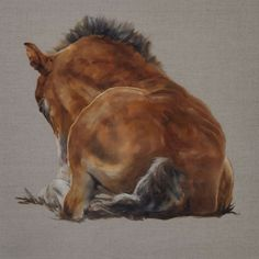 Foal by Tony O'Connor Equine Art whitetreestudio.ie