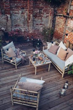 Our new Terrace in the Countryside - Our Food Stories Diy Outdoor Furniture, Patio Furniture Sets, Outdoor Rooms, Garden Furniture, Outdoor Living, Outdoor Decor, Outdoor Patios, Outdoor Kitchens, Patio Interior