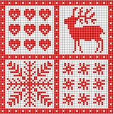 scandinavian christmas cross stitch pattern
