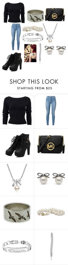 """""""Modern Day Tessa Herondale"""" by rosemarie-lestrange ❤ liked on Polyvore featuring Donna Karan, 7 For All Mankind, MICHAEL Michael Kors, MBLife.com and modern"""