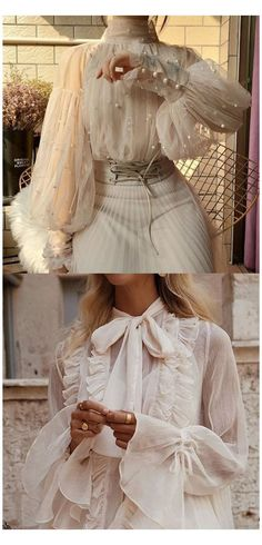 Look Fashion, Womens Fashion, Fashion Design, Fashion Fashion, Fashion Watches, High Fashion, Fashion Ideas, Looks Party, White Lace Blouse
