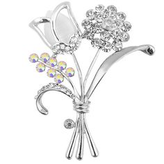 Aliexpress.com : Buy 2017 Opal And Rhinestone Flower Brooches For Women Cute Fashion Hat Scarf Coat Brooch Pins  Party Jewelry Hot Sale  from Reliable flower brooches for women suppliers on CINDY XIANG (CX) Store